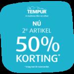 Tempur Summer Sale 50% korting